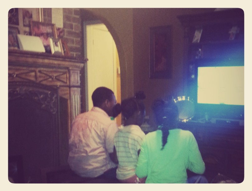 My little cousins ignoring all of us to play games.