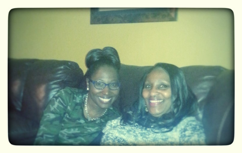 My cousin Sheri and my mama striking their poses.
